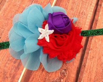Little Mermaid Headband- Disney Inspired Headband, Disney Headband, Ariel Headband, Birthday Headband, Photo Prop, Headband