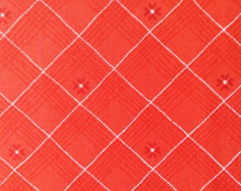 One Half Yard of Fabric Material - Diagonal Plaid