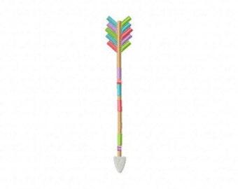 Rainbow Arrow Machine Embroidery Design