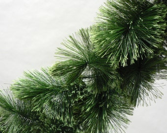 """Green Christmas garland, Commercial quality, 9' x 16"""" diam, exploded tip garland"""