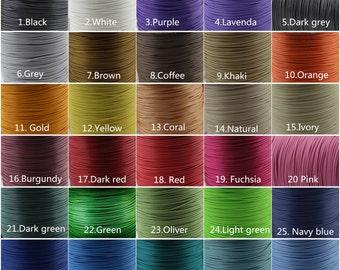200 Yards 1.0/ 1.5/ 2.0mm Coral Waxed Cotton Cord, Environmentally Friendly Materials