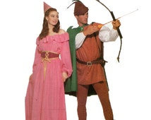 Butterick 5749 Robin Hood and Maid Marian Costumes Unisex Uncut