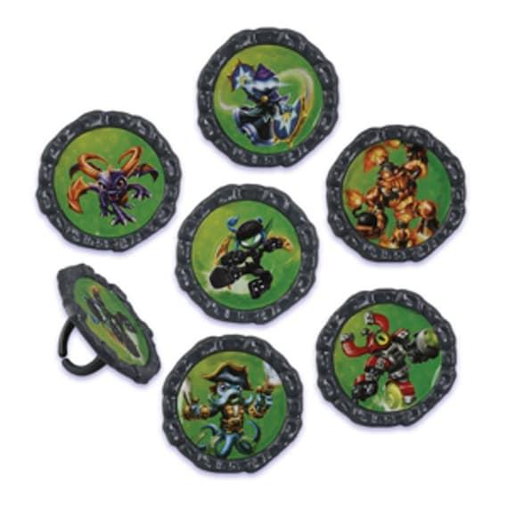 Skylanders Cupcake Toppers Rings