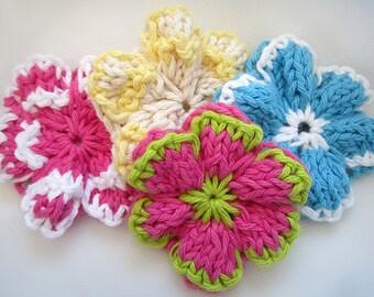 KNITTING PATTERN PDF Flower- Knit Flower Pattern - Knit flower pattern -Summer Flower - Colourful Flower - Knitting Pattern