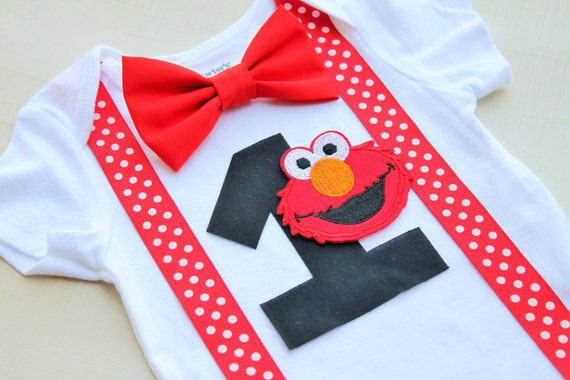 Elmo Birthday Outfit Cake Smash Outfit Baby Boy First