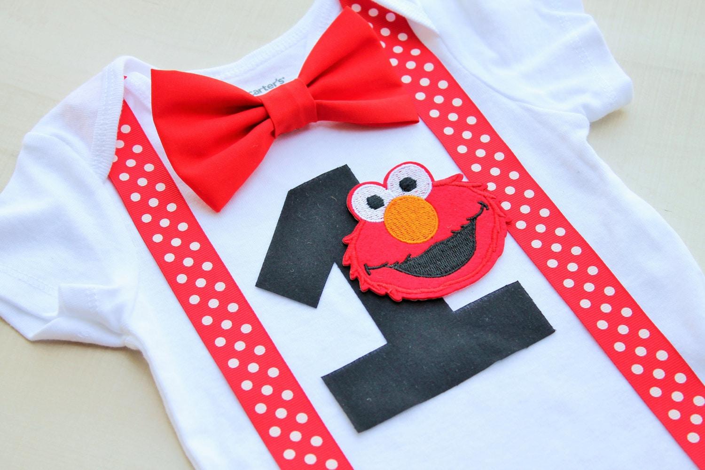 Elmo Birthday Outfit Elmo Cake Smash Outfit Baby Boy First