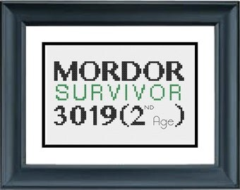 Mordor Survivor 3019 (2nd Age) - The Lord of the Rings - The Hobbit - JRR Tolkien - PDF Cross-Stitch Pattern