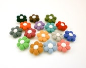 Felted Flower Brooch, Rainbow Colors, Birthday party favor, Kids Brooch, Miniature Woolen Flower Pin, Thank you gift, Summer Floral Brooch