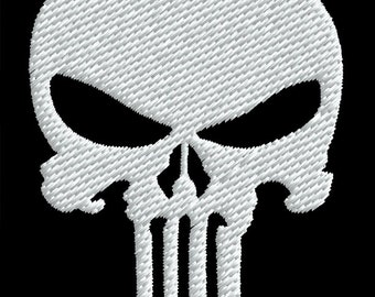 Punisher Embroidery Design