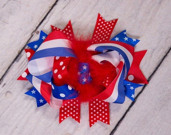 ReD WhiTe BLuE ShAbBy BaBy HaiR BoW