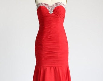 Wedding dress ch eap red weddign gown simple chiffon bridal dress