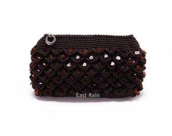 crochet bag crochet clutch bag crochet purse wallet small wallet woman wallet make up bag grab bag party bag evening bag dance bag gift idea