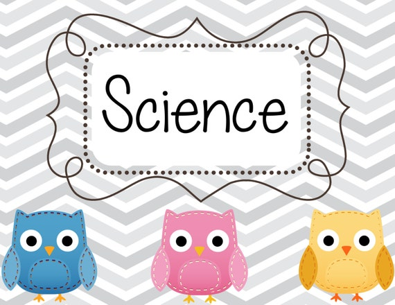 Science Tags: Chevron Owl Classroom Set Center Science Labels Cubby