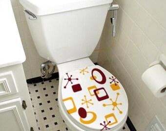 Retro Toilet Seat Decals