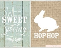 INSTANT DOWNLOAD Set of 2 - 4x6 Spring Printable, Easter Printable, Spring Sign, Easter Sign, Rustic Spring, Rustic Easter