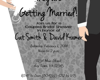 Custom Couples Bridal Shower Invitation