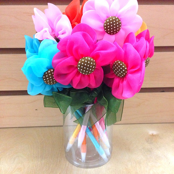 Baby Shower Favors Flowers ~ Set of flower pen baby shower favor game prize party