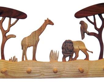 "Wardrobe ""Serengeti"", made of different kind of  wood"