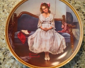 Knowles Waiting At The Dance Plate Rockwell's Rediscovered Women Collection