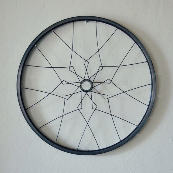 Bicycle wall art malacca geometric home decor recycled bike for Bicycle wheel wall art