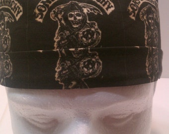 Motorcycle SOA MacBeth Hamlet Tie Back Surgical Scrub Hat