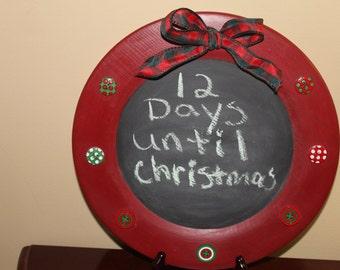 Christmas Chalkboard Plate