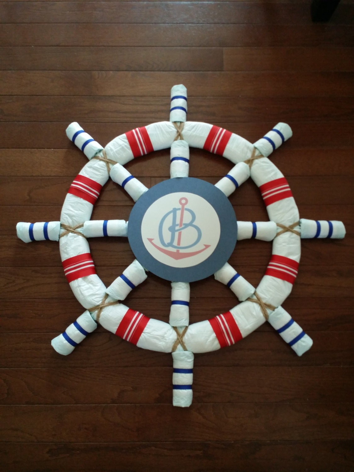 diaper cake pattern nautical theme baby shower by alldolledup77