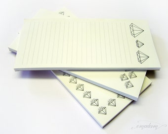 Notepads, memo pad, stationery, pads, bloc, to do list, list, writing pad, office supplies - Notepad-Set - diamond