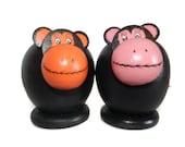 Monkey Piggy Bank, wooden Coin bank, monkey coin bank, piggy bank Wooden, kids room decor, kids gifts, monkey lover gift, monkey decor