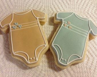 Simple Baby Onesie Cookies - 1 Dozen