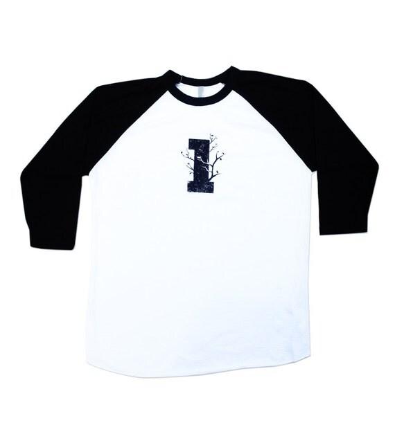 Mens Baseball Shirt  - Mens Tree Shirt -  American Made - In Small, Medium, Large, XL