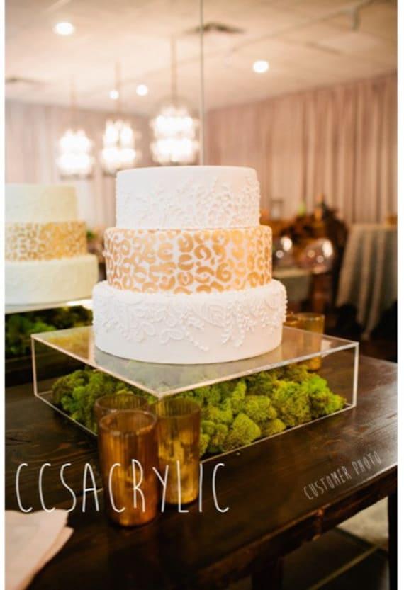 Clear Acrylic Cake Stand Platform