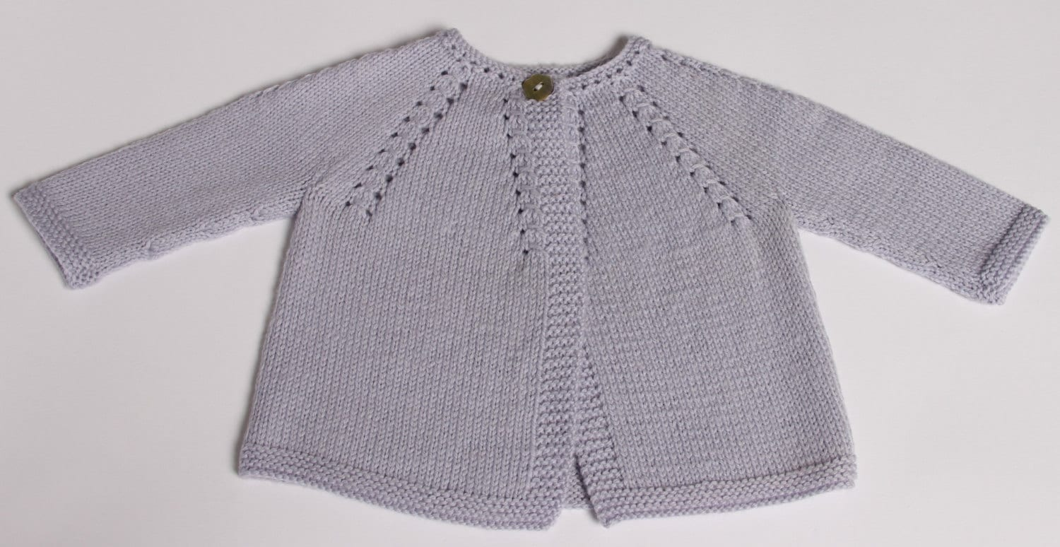 Knitting Baby Sweater Measurements : Knitting pattern baby cardigan instructions in english