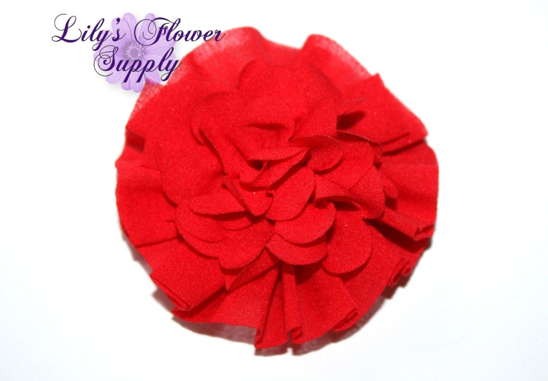 Red Fabric Flowers Wholesale fabric flowers Ballerina