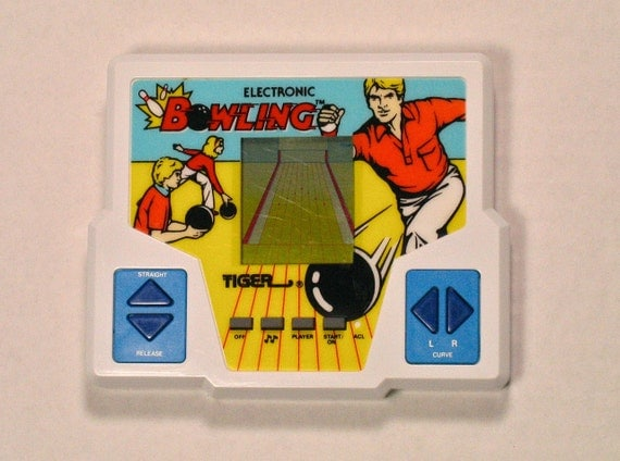 80s Electronic Toys : S tiger electronic bowling game handheld sports lcd