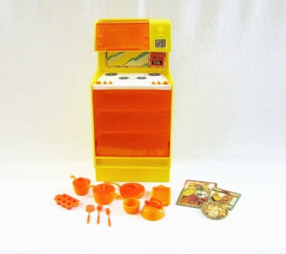 Vintage Barbie Dream House Stove And 20 By HipCatRetroVintage