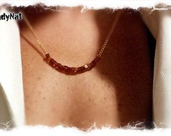 BOLD Statement  Hessonite  garnet  necklace.