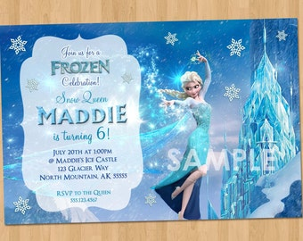 Frozen Birthday Invitation - Elsa Frozen Invitation - Printable Frozen Invitation - Elsa Invitation Frozen Party Ideas Invites Snow Queen