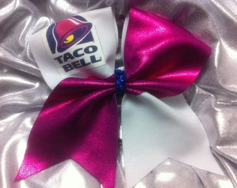 """3"""" Cheer Bow- Taco Bell"""
