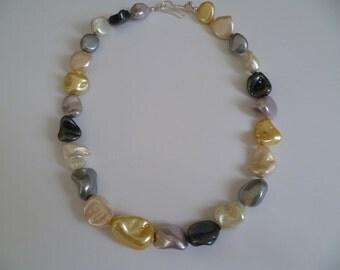 Biwa Pearl Choker Necklace