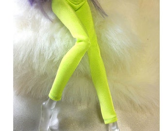 Tight pants/leggings/clothes for Monster high doll - Fluorescent Green - No: 702
