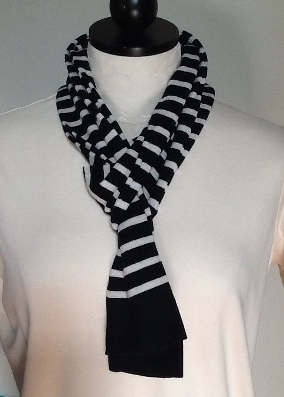 Buy low price, high quality scarf black and white stripe with worldwide shipping on r0nd.tk
