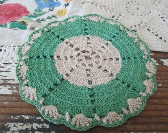 Three Mismatched Crocheted Linens