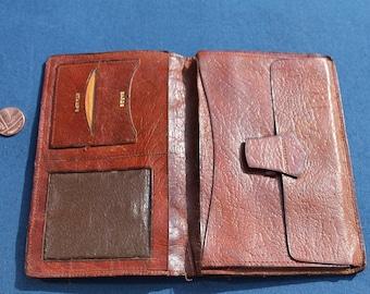 SALE- Vintage oak calf Wallet