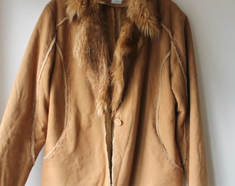 Vintage Faux Suede oversized Boyfriend Jacket