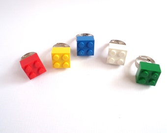5 Rings, Party Favors, made with new LEGO bricks, Classroom Favors, Lego Birthday Party, Easter Egg Fillers, Five per Order