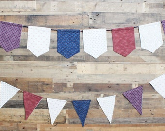 Retro Fabric Triangle Pennant Banner