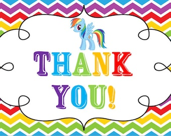 My Little Pony Thank You Tags Free Printable - Premium Invitation Template Design | Bliss Escape