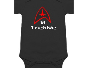 wRb lil trekkie star trek baby onesie one piece shirt bodysuit romper clothes