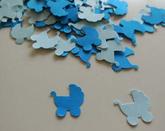 200pcs Blue Stroller Confetti for Party, baby shower, Table decoration, Scrapbooking or Cardmaking